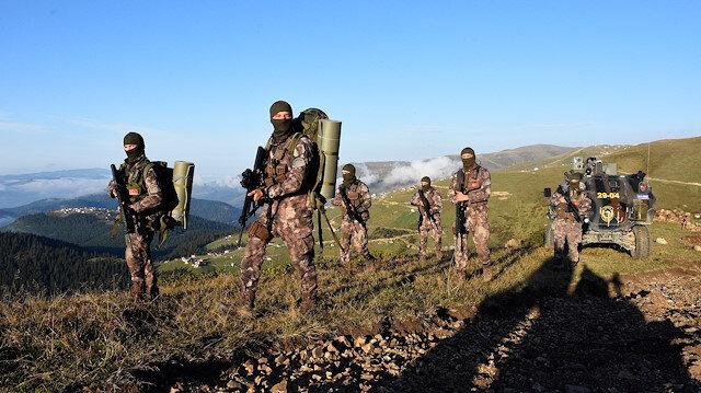 Operasyona katılan güvenlik güçleri. Fotoğraf: Arşiv.