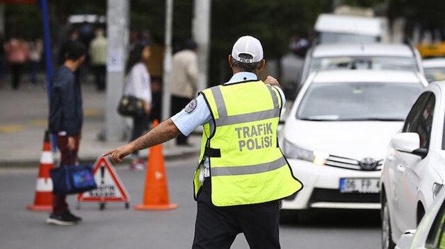 Görevde trafik polisi. Fotoğraf: Arşiv.