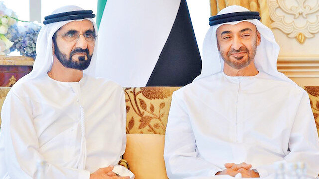 Dubai Şeyhi Maktum ve Abu Dabi Veliaht Prensi Zayed (Sağda)