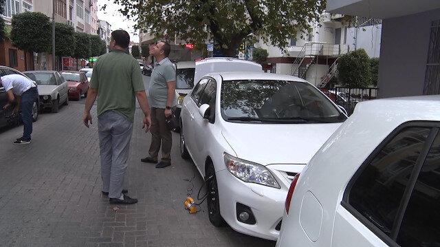 Güngören'de park halinde 10 aracın lastiği kesildi