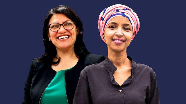 Rashida Tlaib (solda) ve Ilhan Omar (sağda)