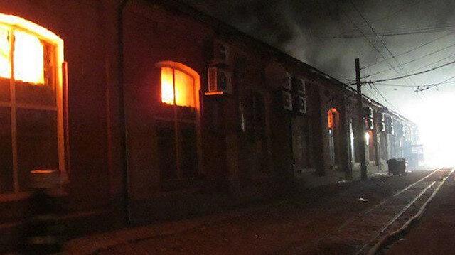 Ukrayna'da otelde yangın 8 ölü
