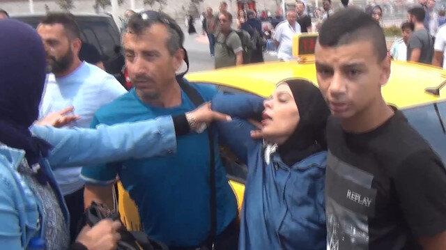 İsrailli turist kendisine çarpan taksiciye tükürünce arbede yaşandı