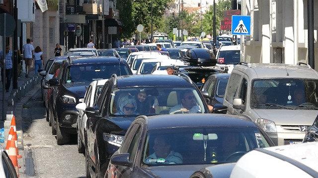Çanakkale'de dönüş trafiği
