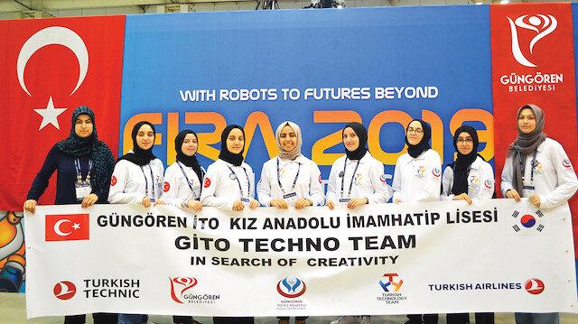 Yarışmada Türkiye'yi Güngören İTO Kız Anadolu İmam Hatip Lisesi temsil etti.