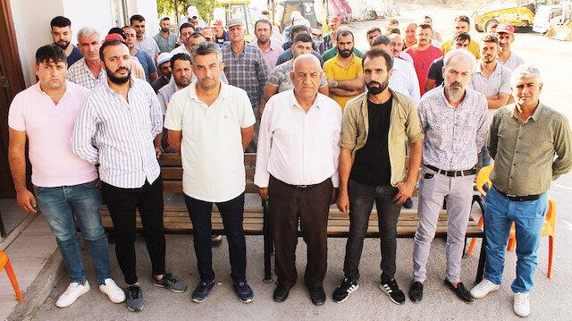 HDP'li belediyelerce işten çıkarılan bazı şehit yakınları.