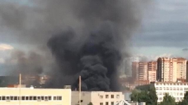 Rusya'da kimyasal tesiste yangın çıktı