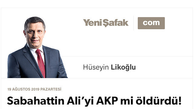 Sabahattin Ali'yi AKP mi öldürdü!
