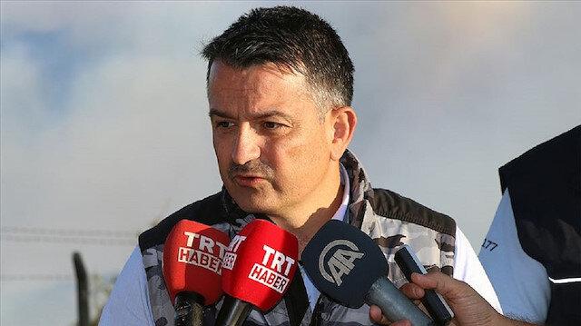 Bakan Pakdemirli İzmir'deki yangınla ilgili açıklamada bulundu