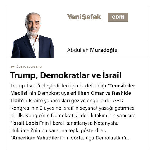 Trump, Demokratlar ve İsrail