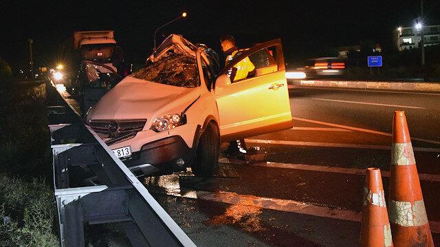 Konya'daki kazada cip hurdaya döndü