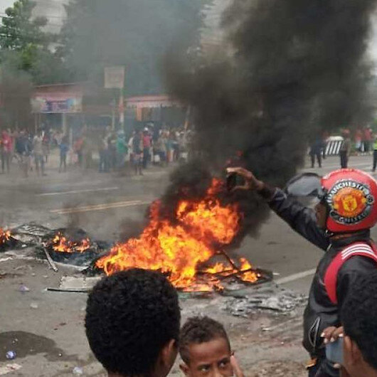 Indonesia police search for inmates after Papua jail set ablaze