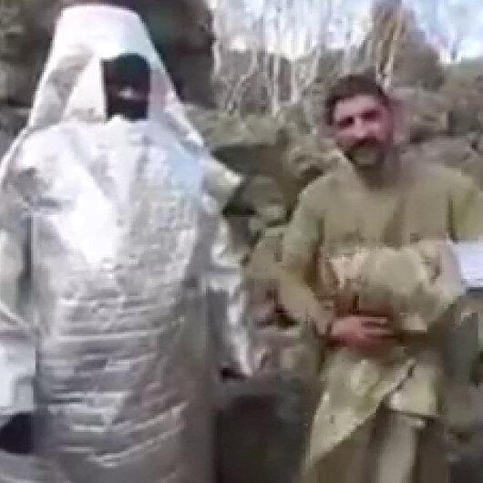 Uzaylı kostümü ile 'pusu' atan terörist jandarmanın pususunda öldürüldü