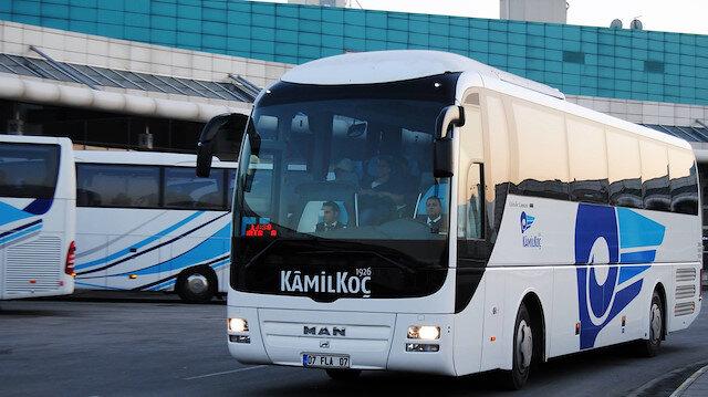 Kamil Koç otobüs firması.