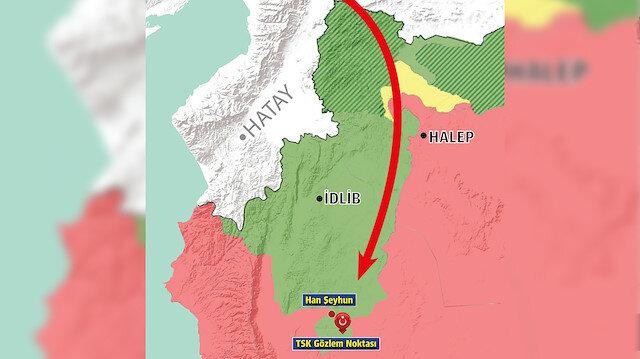 İdlib'e 51 kilometre