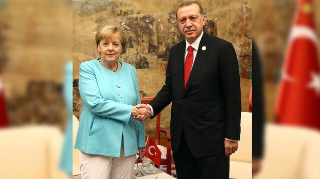 Angela Merkel-Recep Tayyip Erdoğan (Arşiv)