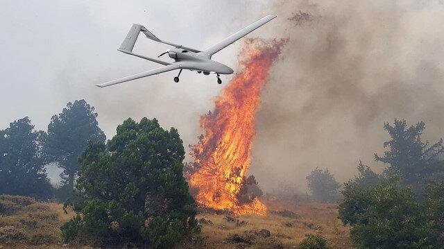 İHA'ların yangınla mücadelede de etkin olarak görevler üstlenebileceği öğrenildi.