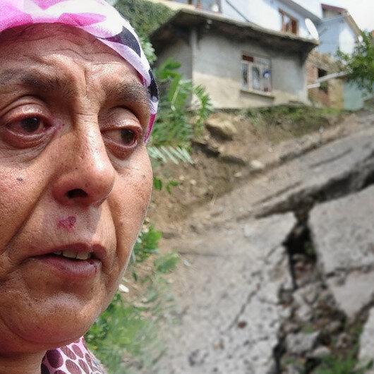 Aşırı yağış sonrası oluşan heyelanda 6 ev zarar gördü