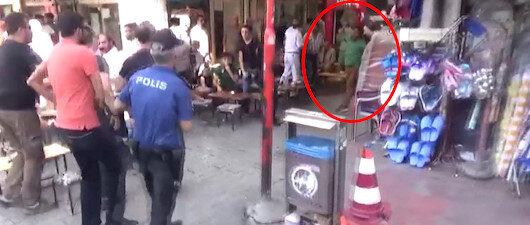 Polise saldırdığı görüntü ortaya çıktı!