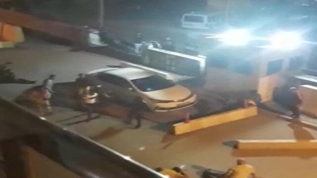 Erzurum'da sopalı, silahlı kavga kamerada