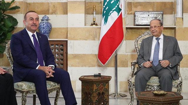 تشاووش أوغلو يبحث مع الرئيس اللبناني قضايا إقليمية