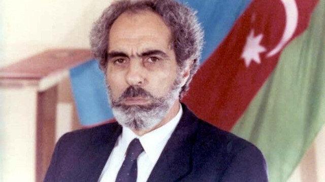 Azerbaycan'ın 2. Cumhurbaşkanı Ebulfeyz Elçibey.