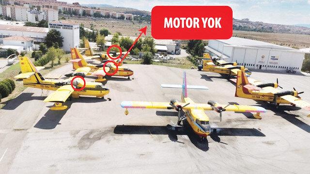 Motorları olmayan uçaklar görüntülendi.