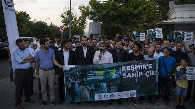وقفة احتجاجية في أنقرة تنديدًا بسياسات الهند في إقليم كشمير