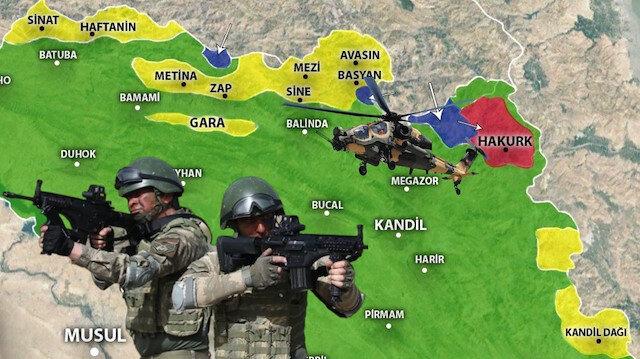 Türkiye, Pençe Operasyonları ile PKK'nın ana üslenme noktalarını ele geçiriyor.
