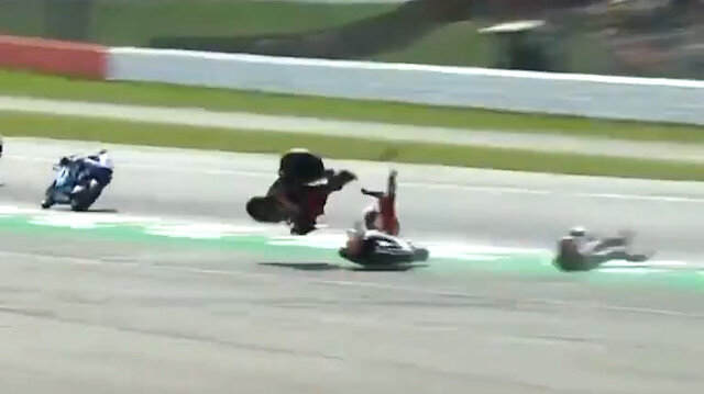 Britanya Grand Prixsinde kaza