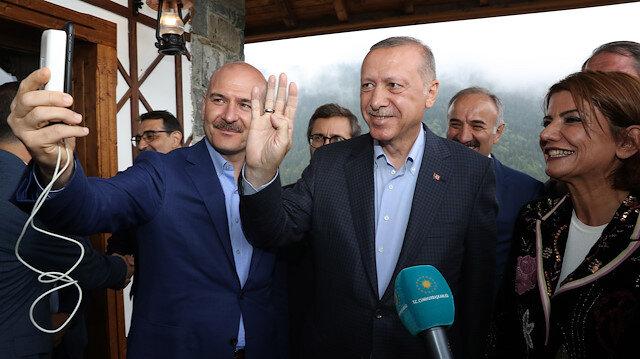 Cumhurbaşkanı Erdoğan Hacire Akarla görüntülü görüştü