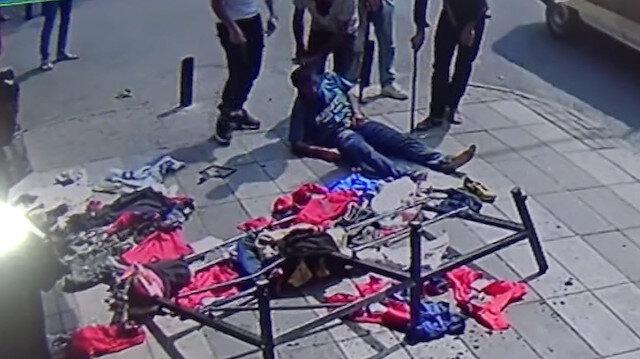 1 kişinin öldüğü 4 kişinin yaralandığı sopalı bıçaklı kavga kamerada