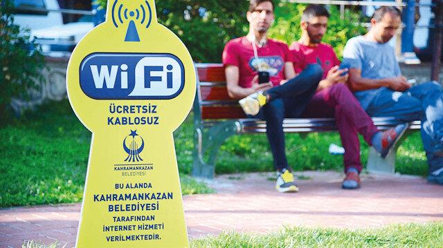 Kahramankazan'da ücretsiz internet
