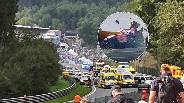 Formula 2'de yürekleri ağza getiren kaza