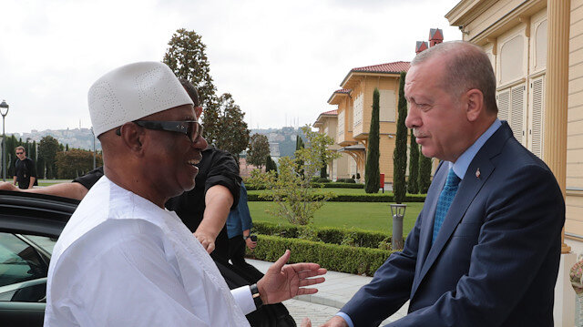 Cumhurbaşkanı Erdoğan, Mali Cumhurbaşkanı le görüştü
