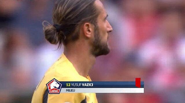 Lille'de forma giyen Yusuf Yazıcı Reims maçında kırmızı kart gördü