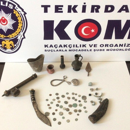 Çorlu'da tarihi eser hırsızları gözaltına alındı