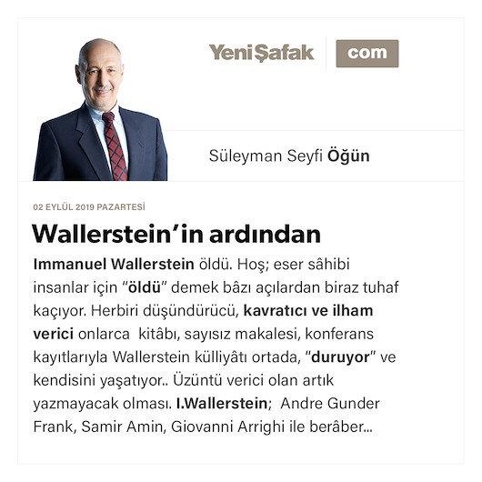 Wallerstein'in ardından