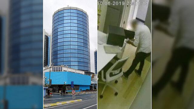 Ünlü rezidansta meydana gelen hırsızlık olayı kameralara da yansıdı.