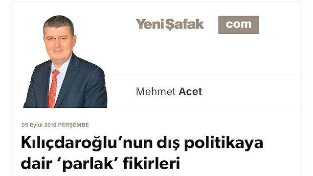 Kılıçdaroğlu'nun dış politikaya dair 'parlak' fikirleri