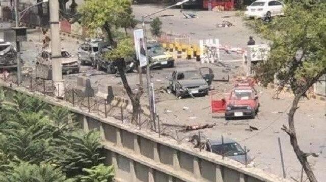 Kabil'de patlamanın meydana geldiği yer.