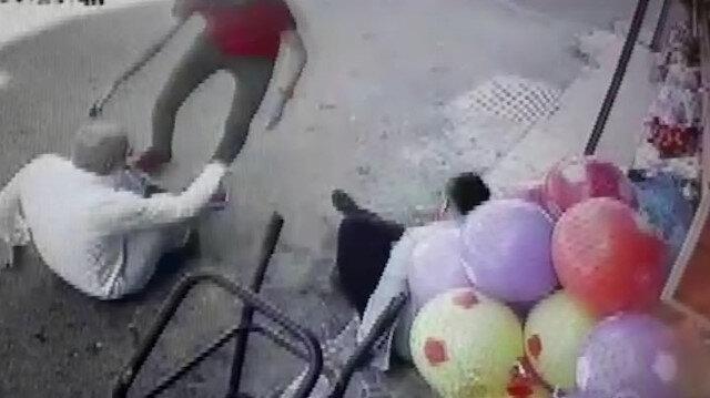 3 kişinin yaralandığı silahlı saldırı anı kamerada