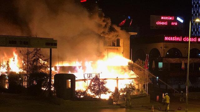 3 katlı restoran alev alev yandı