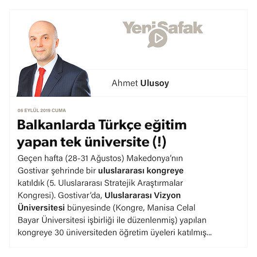 Balkanlarda Türkçe eğitim yapan tek üniversite (!)