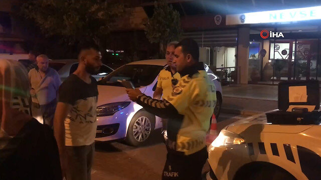 Polisin alkollü sürücüyle imtihanı