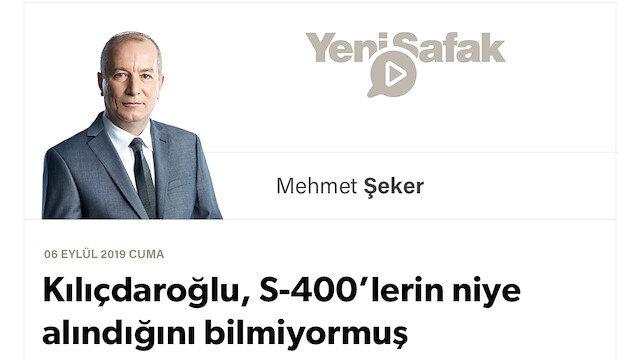 Kılıçdaroğlu, S-400'lerin niye alındığını bilmiyormuş