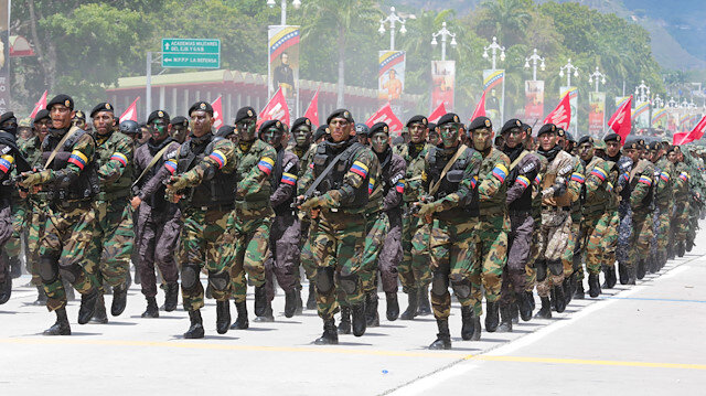 File photo: Venezuelan soldiers take part in a military parade