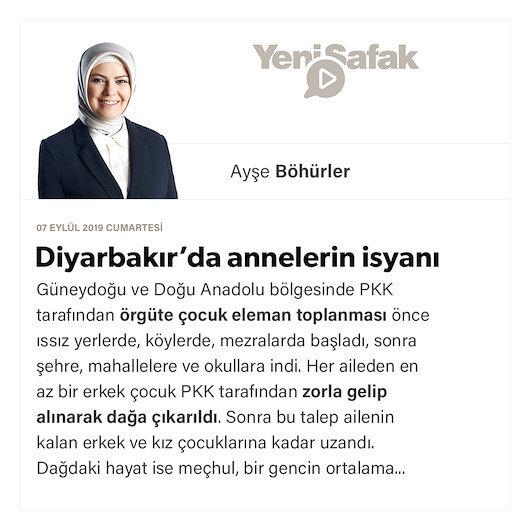 Diyarbakır'da annelerin isyanı