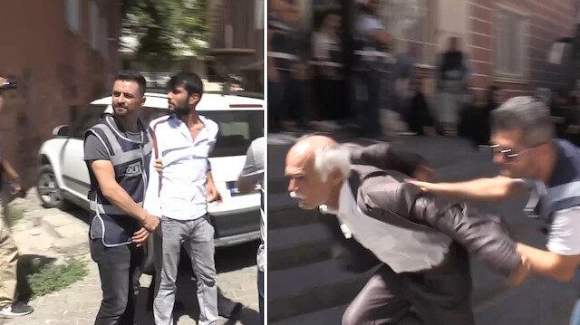 Evlat nöbetindeki ailelere hakaret eden bir kişi gözaltına alındı