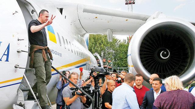 Ukrayna'ya geri dönen bir esir
